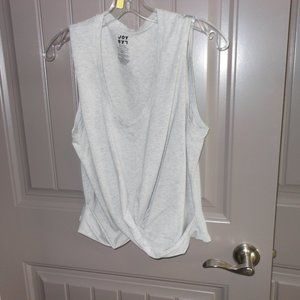 Gray Joy Lab Crossed Work Out Top